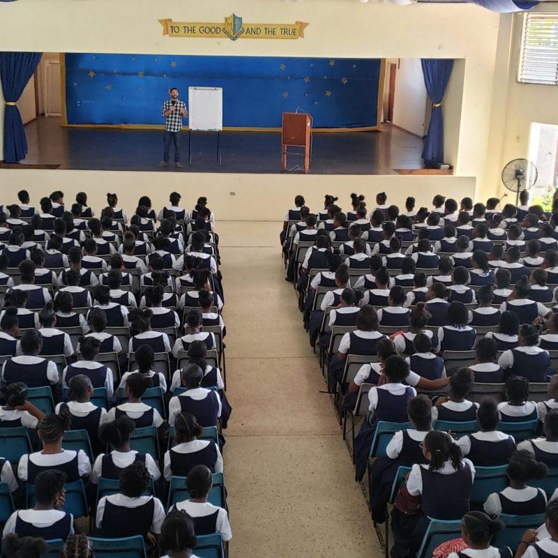 Jamaica All Girls School Assembly